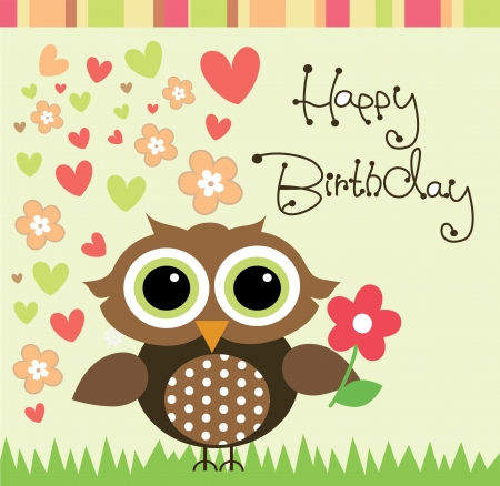 happy birthday card design. vector illustration Vector