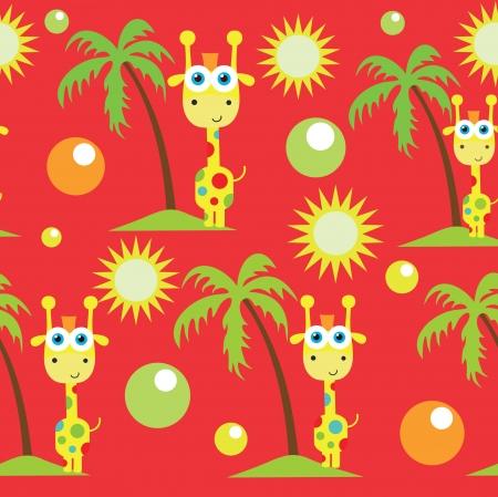 seamless kid pattern. illustration Vector