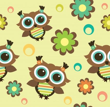 seamless kid pattern. illustration