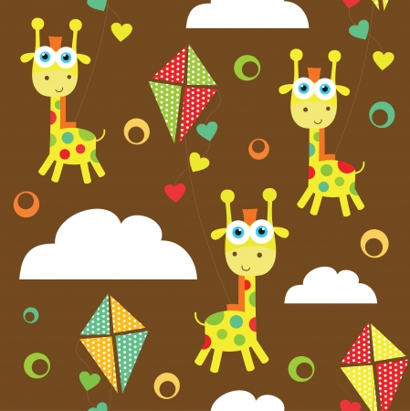 seamless kid pattern.illustration Vector