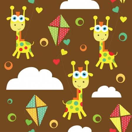 baby scrapbook: seamless kid pattern.illustration