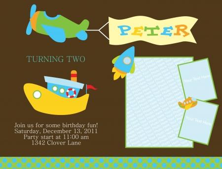 cute boy: kid invitation card design. illustration Illustration