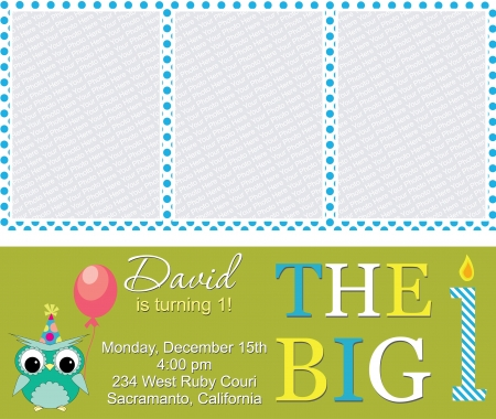 kid invitation card design.illustration Vector