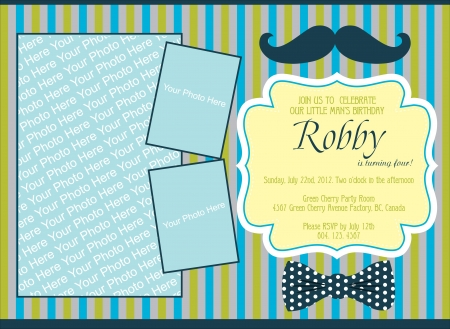 kid invitation card design. illustration Illustration