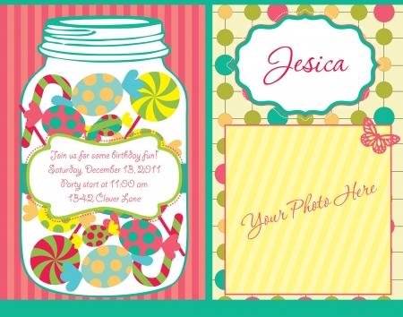 baby shower party: kid invitation card design.  illustration