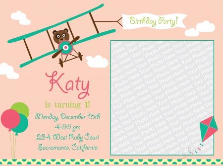 kid invitation card design.  illustration