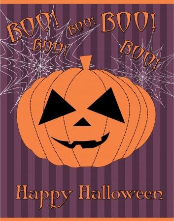afterglow: halloween card. illustration Illustration