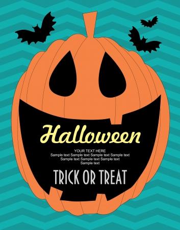 halloween kids: halloween card.  illustration Illustration