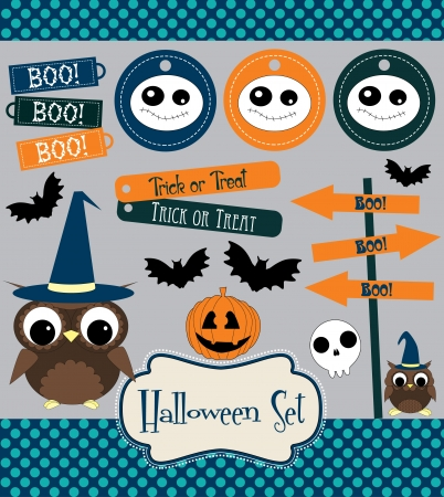 halloween set.  illustration
