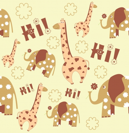 seamless kid pattern. illustration Vector