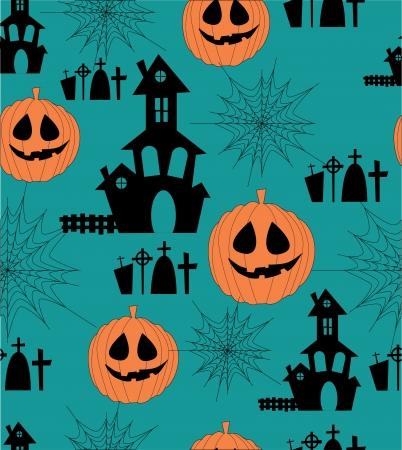 cemetry: cute halloween seamless pattern. illustration