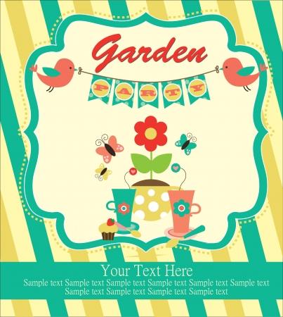 garden party cute collection  illustration Stock Vector - 20167232