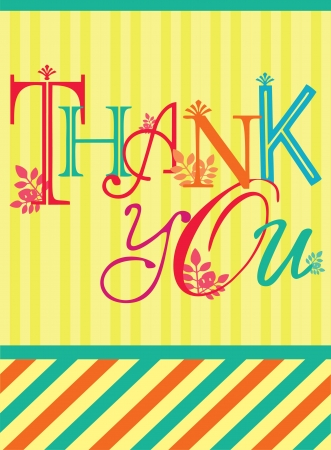 courtesy: thank you card design  illustration