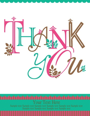 thank you card design illustration Ilustração