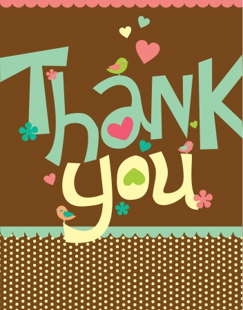 thank you card design  illustration Vector