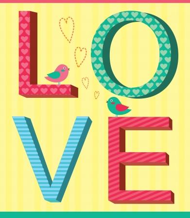 cute love card design  illustration Vector