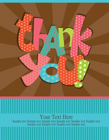 thank you card: thank you card design illustration Illustration