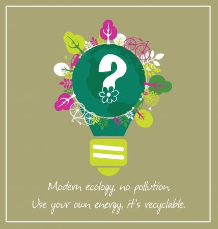ecology card design illustration Vector