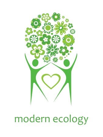 ecology card design  vector illustration Vector