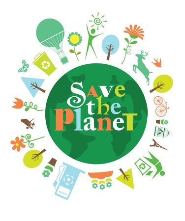 ecology card design illustration Illustration