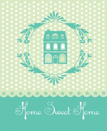 home sweet home card  vector illustration Stock Vector - 20195645