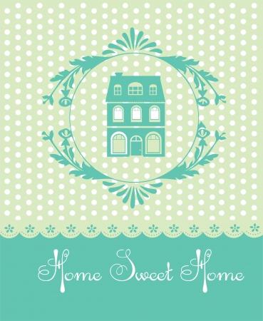 sweet shop: home sweet home tarjeta de ilustraci?ectorial