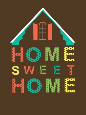 home sweet home card  vector illustration Stock Vector - 20196336