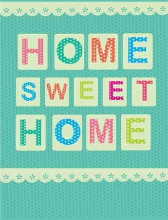 sweet shop: home sweet home tarjeta de ilustraci�n vectorial