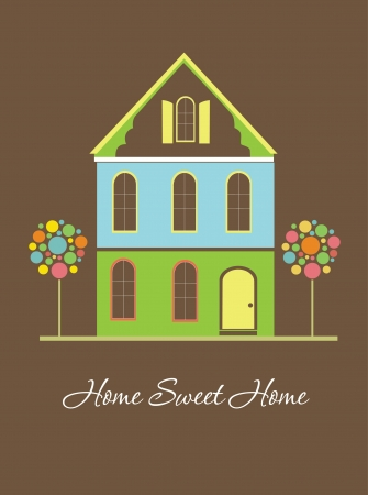 home sweet home: home sweet home card  vector illustration