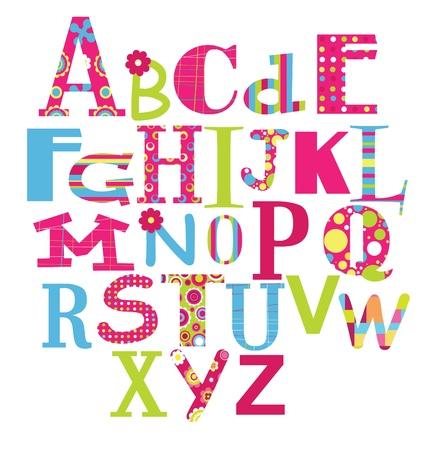 alphabet: alphabet design  vector illustration
