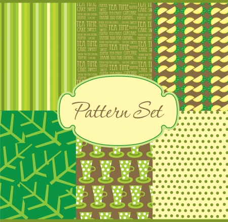 cute pattern set  vector illustration Vector