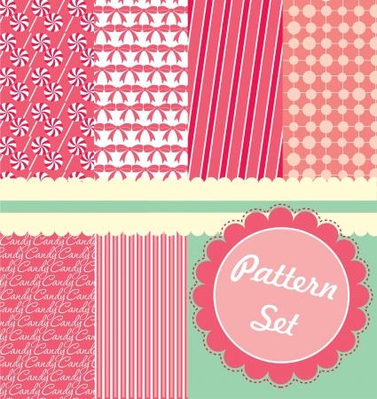 cute pattern set  vector illustration Vector