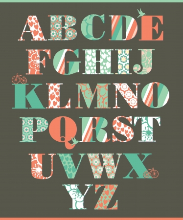 alphabet design  vector illustration