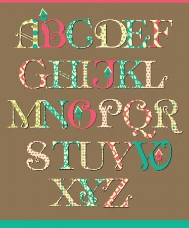 alphabet design  vector illustration Vector