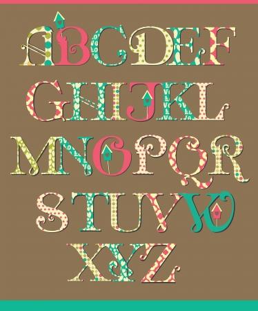 diseño alfabeto ilustración vectorial Ilustración de vector
