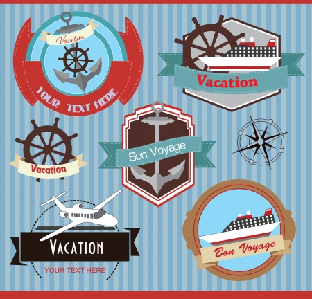 travel set  vector illustration Vector