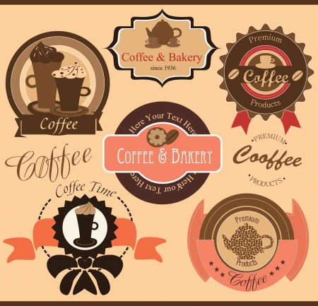 coffee set  vector illustration Vector