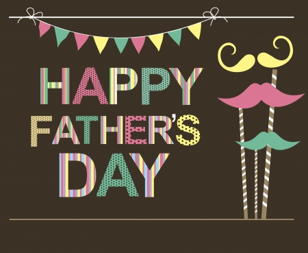 father day: card with mustache  illustration Illustration