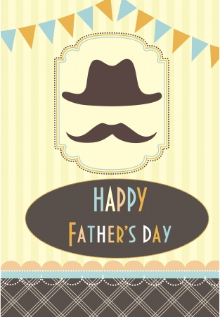 father day: card with mustache  vector illustration