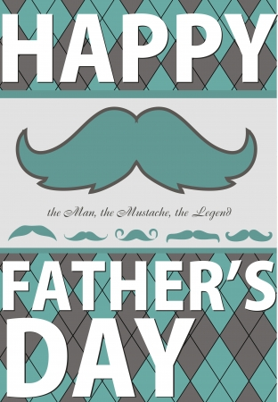 card with mustache  vector illustration