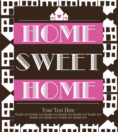 home sweet home card  illustration Stock Vector - 20494393