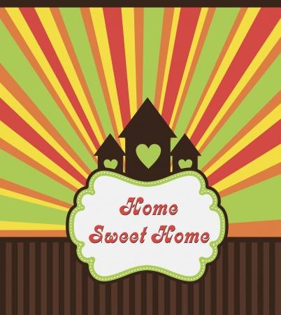 sweet home: home sweet Ejemplo de la tarjeta home Vectores