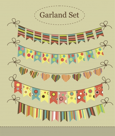 flapping: vintage garland collection  illustration