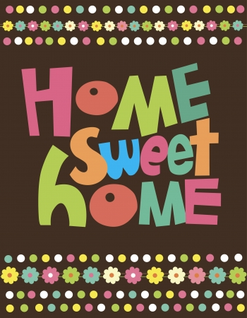 warm home: home sweet home card  illustration