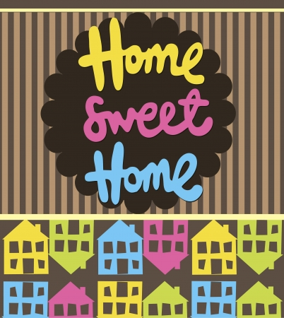 home sweet home card  illustration Stock Vector - 20493465