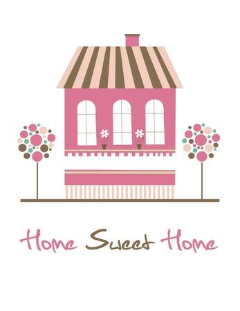 sweet shop: home sweet home ilustraci�n de la tarjeta