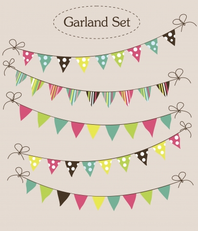 garland collection  vector illustration