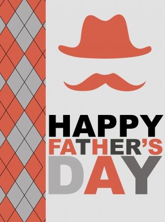 summer day: tarjeta con bigote d�as ilustraci�n vectorial feliz padre s Vectores
