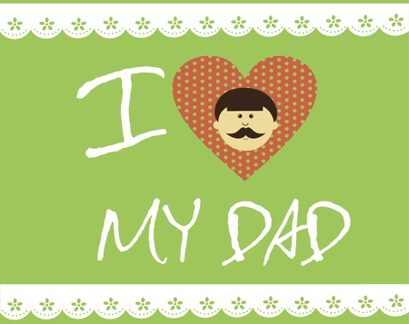 card with mustache  happy father s day  vector illustration Vector