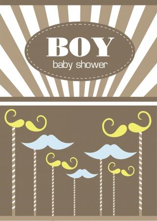 baby boy shower  illustration Vector